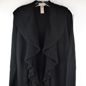 Miss Tina Knowles Open Front Tunic Sweater Sz L